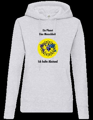 Frauen Coronavirus Schutz Pullover/Sweatshirt Grau