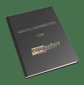 Abschlussarbeit Hardcover Schwarz mit Gold
