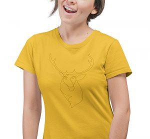 Textildruck Damen T-Shirt
